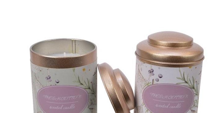 Bougie parfumé boite feuille.   COUP DE COEUR