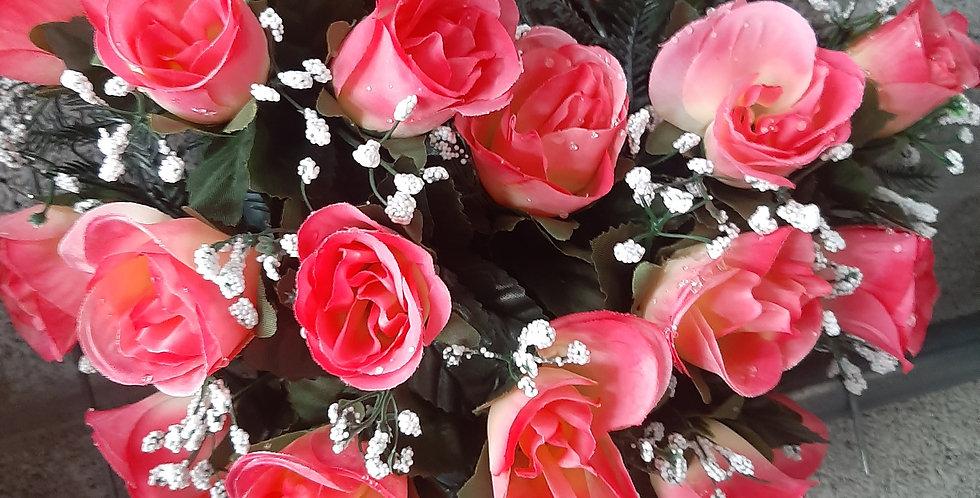 Coeur rose 30x30cm