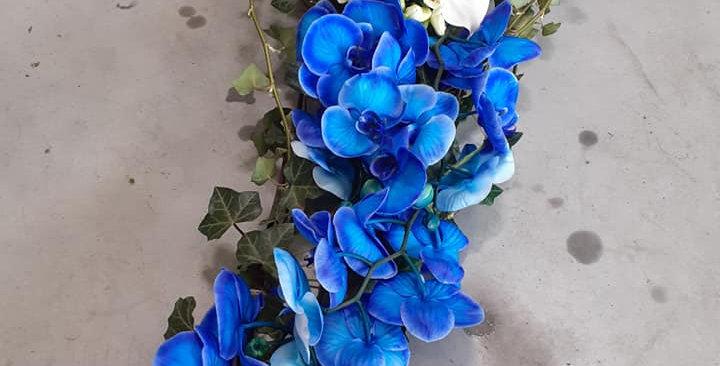 Coeur Bleu avec sa chute +- 40x80cm