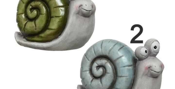 Escargots terre cuite 2 couleurs
