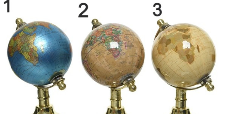 Globes 3 coloris