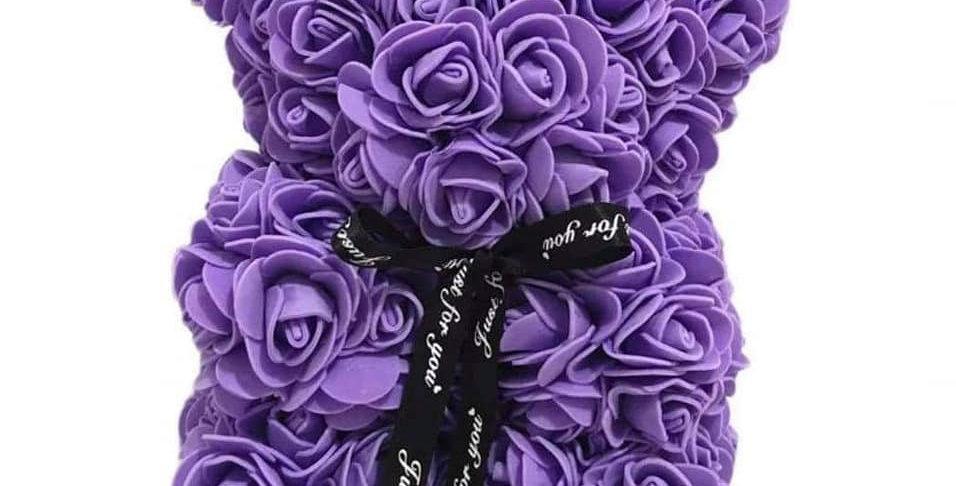 Ourson en Roses avec sa boîte cadeau (+-30cm) 18 couleurs dispos