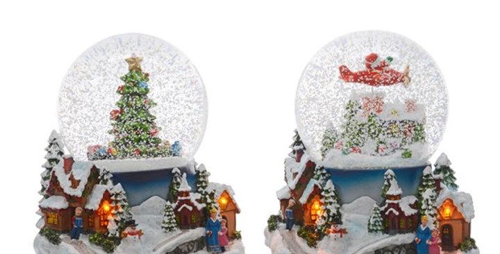 LED globe neige 2assortiments  pile/INT