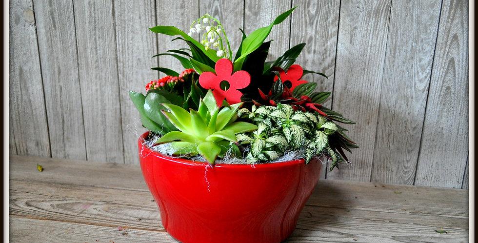 Composition plantes avec son muguet