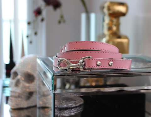 B&L NYC Leather Leash - Pink