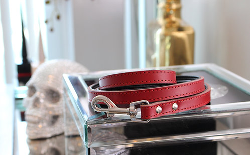 B&L NYC Leather Leash - Red