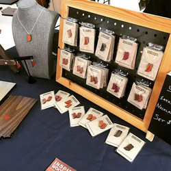 Looking for a unique #indiana #gift_ Get Indiana #jewelry from us at #ioexpo today on Monument Circl
