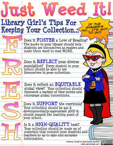Flyer: Library Girl's Tips for Keeping Your Collection FRESH.