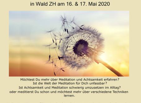 Seminar - Einführung in Meditation und Achtsamkeit wird aus aktuellem Anlass verschoben...