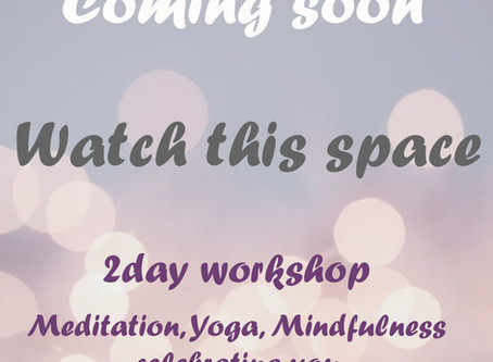 Coming soon - 2 day Workshop