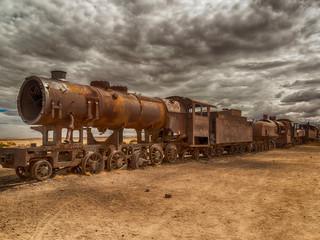 "Cimetière de ""vieilles machines"" Oruro-Bolivie"""