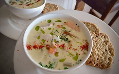 Seafood Chowder at The Pink Elephant