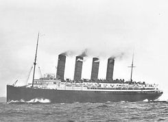 RMS Lusitania near The Old Head of Kinsale
