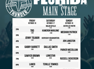 Country Thunder Florida has been Rescheduled