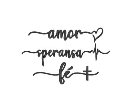 amor, speransa, fe theelichtjes