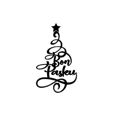 Christmas tree-bon pasku