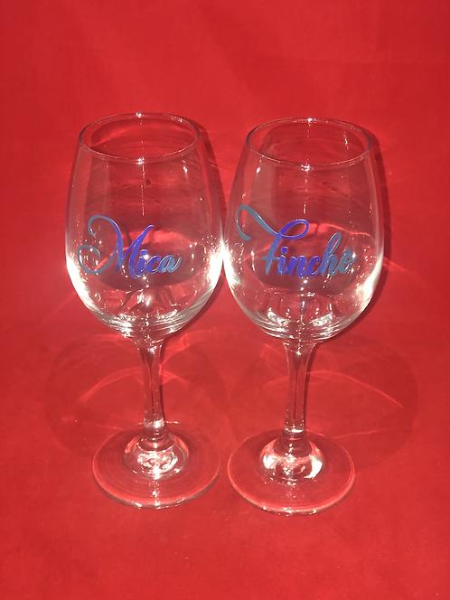 Personalize wine glass