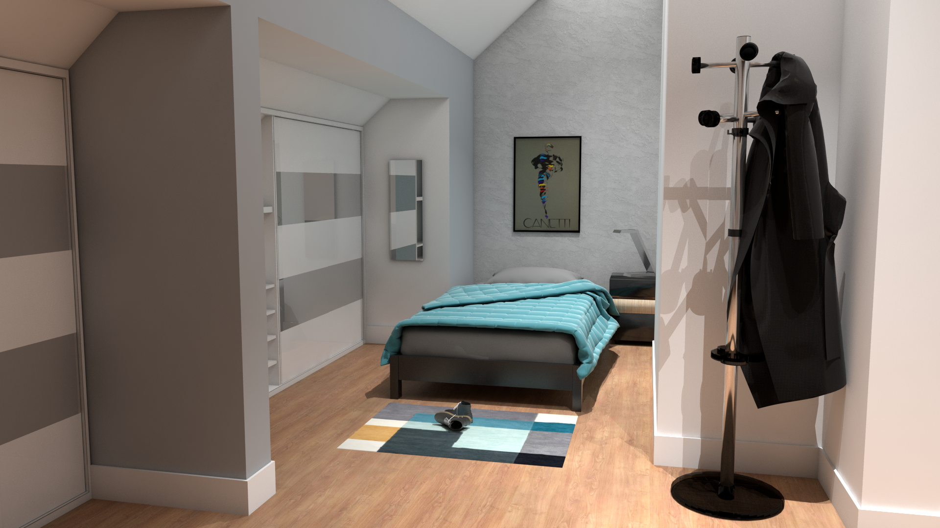Infografía_dormitorio - Ático Dúplex en Fuente del Berro