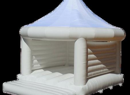 Brand New! White Wedding Bouncy Castle!