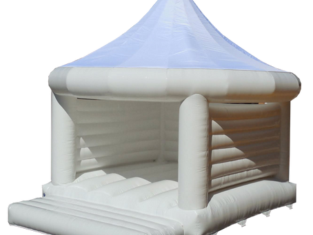 Brand New! White Wedding Bouncy Castle!
