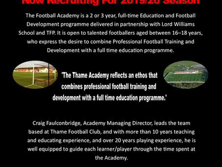Thame Football Academy 2019/20 Details