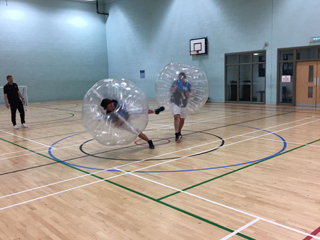 ZORBS!! What a way to get into the 'Party' spirit!!