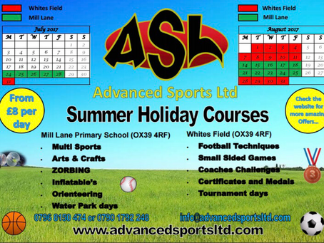 Summer Holiday Courses are 'LIVE'