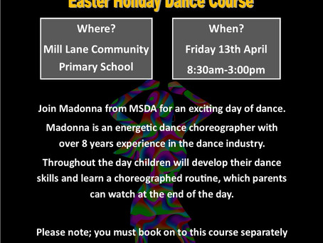 EASTER HOLIDAY COURSES