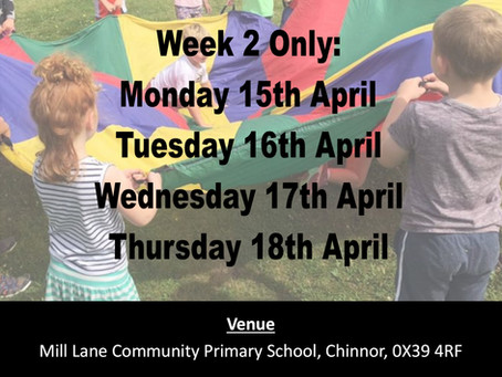 Easter Half Term Holiday Courses