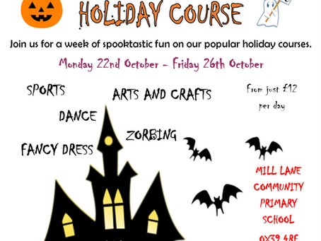 OCTOBER HALF TERM HOLIDAY COURSES