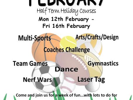February Half Term Holiday Courses