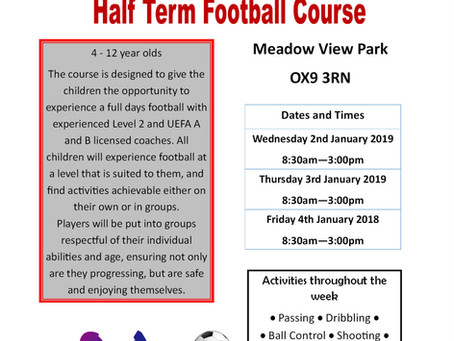January Multi-sports and Football Holiday Course