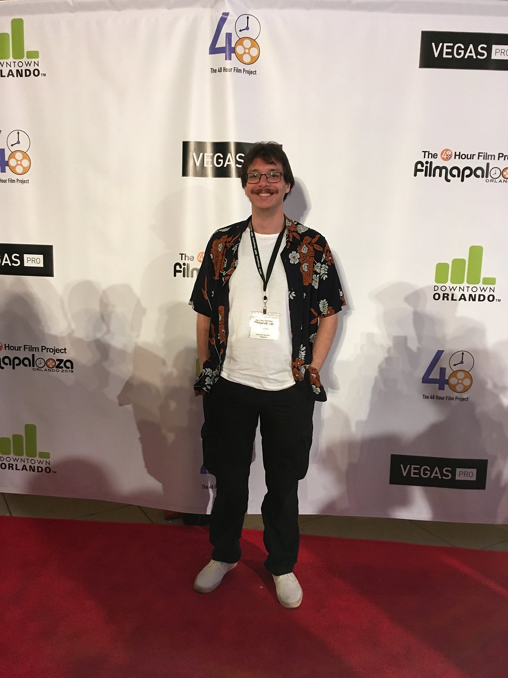 Walking the red carpet of the screening and awards night of the 2019 Filmapalooza