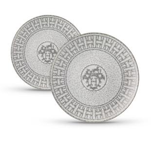 Набор из 2-х десертных тарелок  Mosaique platinum