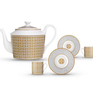 Набор из чайника и двух чайных пар  Mosaique set