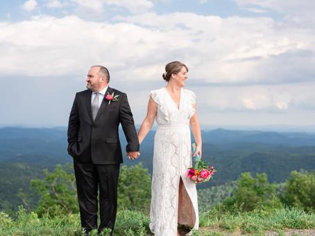 An Intimate Mountain Wedding | Jennifer + Chris | Blowing Rock Wedding Photographer