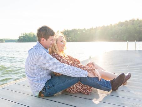 Jamie + Jason | Sunny Lake James Engagement Session | North Carolina Wedding Photographer