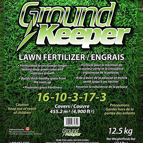 Groundkeeper is a PREMIUM Lawn Fertilizer 16-10-3-17-3