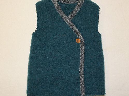 Weste aus Wolle (Fleece), petrol
