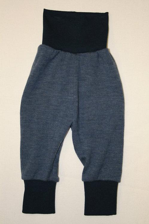 Strickhose aus Wolle (Merinowolle), jeansblau