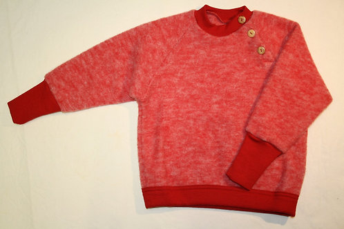Pullover ausWolle (Fleece) ab Gr.50, Rot