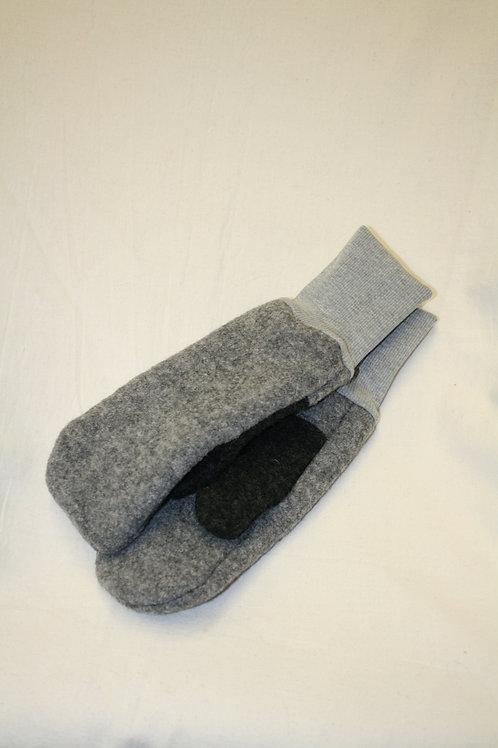 Handschuhe aus Walk, grau