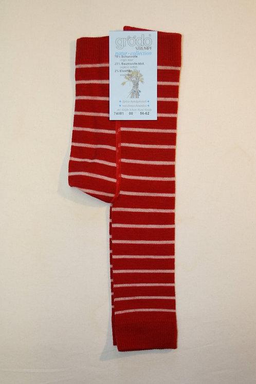 Leggings mit Wolle ab Gr.56, Rotgestreift
