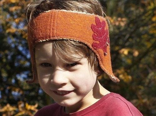 Ohrenschützer aus Walk, gefüttert, orange