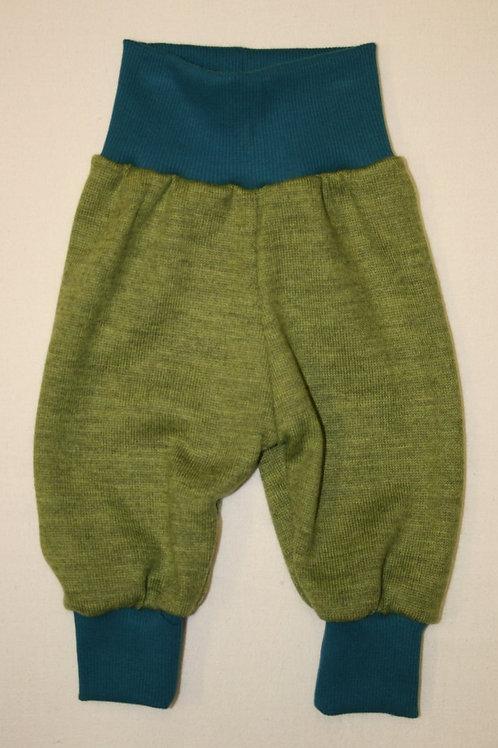 Strickhose aus Wolle (Merinowolle), lindgrün