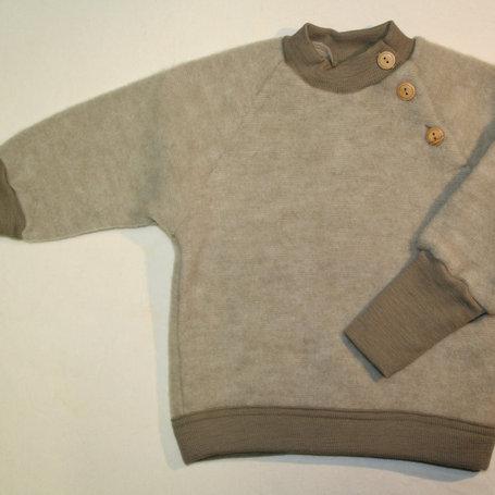 Pullover von Cosilana, Wolle (Schurwolle-Fleece kbT), Erdtöne