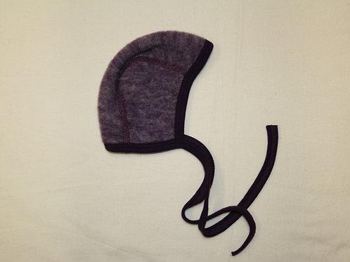 Babymütze aus Wolle (Fleece), lila