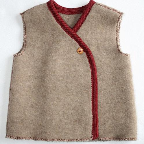 Wolle (Fleece)weste, kaschmir