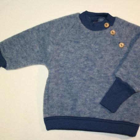 PulloverWolle (Fleece) ab Gr.50, Blau