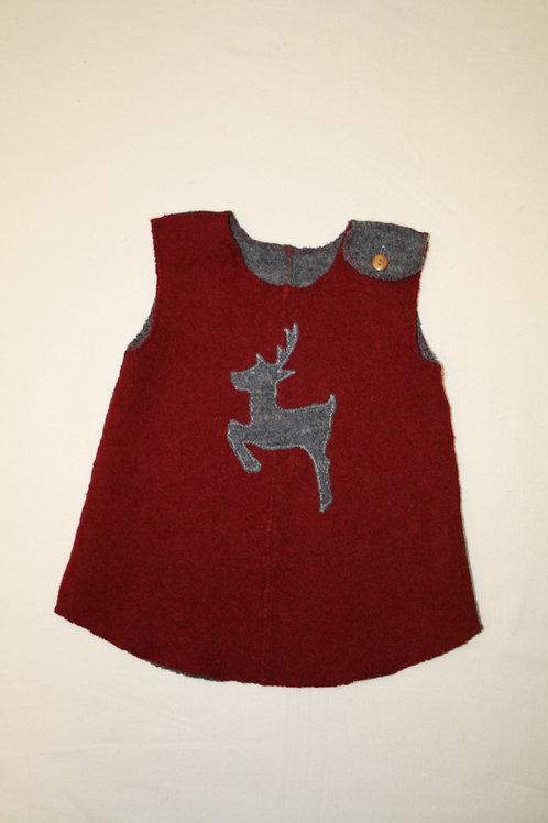 Kleidchen aus Walk ab Gr.62, rot